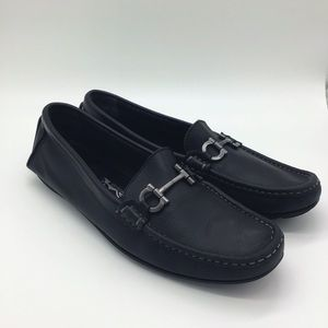 Salvatore Ferragamo Black Driving Loafers 8.5 B